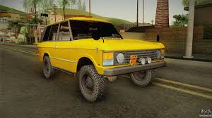 land rover yellow land rover range rover 1978 for gta san andreas