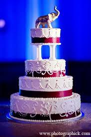 Indian Wedding Cake Reception Elephant In Washington Dc Indian