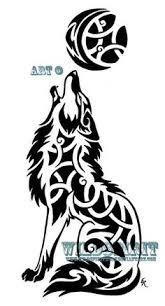celtic wolf celtic tribal howling coyote by