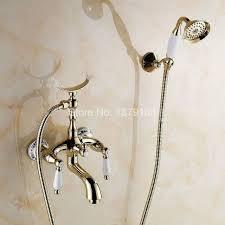montaggio vasca da bagno color oro ottone ceramica a parete montaggio su base clawfoot