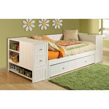 Modern Daybed With Trundle Awesome Modern Daybed With Trundle In White Themed Completed With