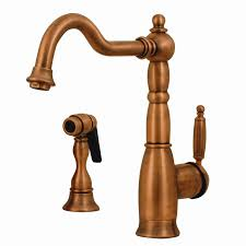 whitehaus kitchen faucets shop whitehaus collection essexhaus antique copper 1 handle deck