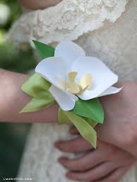 How To Make A Wrist Corsage Make A Paper Orchid
