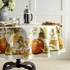 botanical pumpkin tablecloth 70 williams sonoma