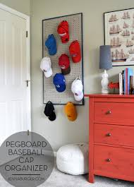 diy pegboard baseball cap organizer the perfect u0027home u0027 for the
