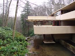 frank lloyd wright waterfall fallingwater pictures southeast exterior stairs to stream