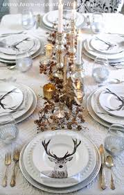 Christmas Deer Table Decorations by 1028 Best Elegant Tablescapes U0026 Settings 2 Images On Pinterest