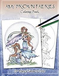 amy brown faeries coloring book amy brown 9781523651603 amazon