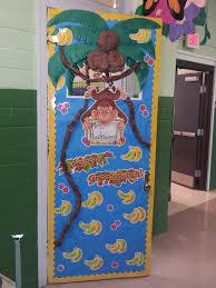 monkey themed classroom door first grade pinterest classroom