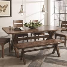 coaster alston rustic dining table with wavy edge sol