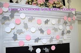 Elephant Decorations For Baby Shower Amazon Com Elephant Baby Shower Garland Pink Elephant Garland