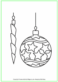 decorations colouring page kerst kleurplaten