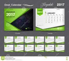Desk Calendar Design Ideas Set Green Desk Calendar 2017 Template Design Cover Desk Calendar