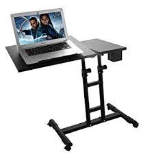 Portable Laptop Desk On Wheels Adjustable Height Portable Laptop Desk Black Sofa