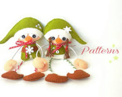 sewing patterns christmas elf christmas elves christmas ornaments patterns pdf set of two little