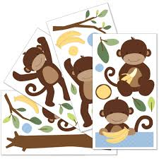 Monkey Nursery Decals Wall Decals For Nursery Kmart Color The Walls Of Your House
