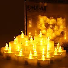 24 pcs led tea lights candles battery powered small flickering omgai