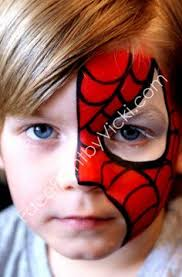 fast cool spider man face painting design boys face