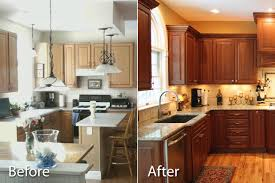 staining kitchen cabinets darker before and after staining kitchen cabinets before and after success