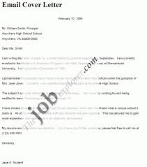 Subject For Resume Mail Email Cover Letter Sample Examples Of Email Cover Letters For