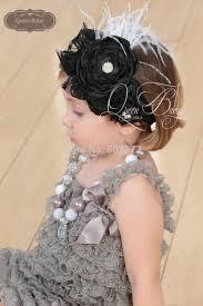 feather headbands aliexpress buy retail layered satin flowers headband baby