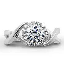 twisted shank engagement ring schneider aura halo engagement ring with