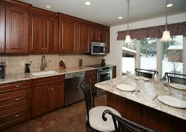 backsplash to match cherry cabinets before and after remodeling photos kitchen makeovers morris