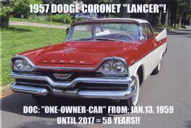 1957 Dodge Coronet Lancer 4 Dr Hardtop Convertible No Post For