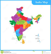 Map India Detailed Map Of India Royalty Free Stock Photo Image 9297115