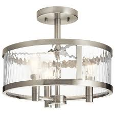 Lowes Bathroom Light Fixtures Brushed Nickel - shop semi flush mount lights at lowes com