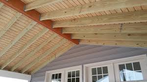 Wood Porch Ceiling Material by Screened Porch Builder Bowie Upper Marlboro Md