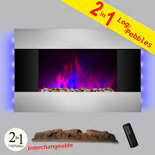 akdy 36 inch wall mount modern space heater electric fireplace