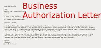 work authorization letter delegate authorization letter sample