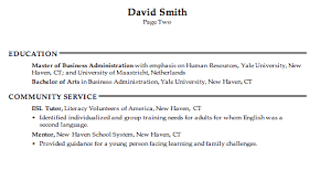 resume resources resume for a human resources generalist susan ireland resumes
