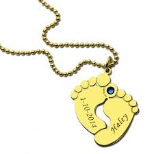 necklace with baby name name date baby necklace gold color personalized
