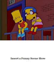 Millhouse Meme - bart and milhouse laughing at a blank meme by cjrules10576 on