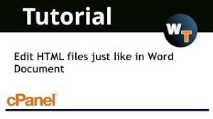 tutorial html editor cpanel tutorial the zone editor interface