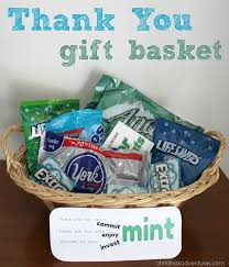 thank you baskets thank you gift basket christinas adventures