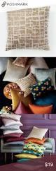 18 square west elm velvet pillow cover in stone gold 18