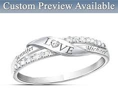 diamond name rings images Love personalized diamond ring with engraved couples names jpg