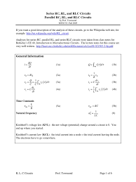 series and parallel equations analog circuits force