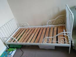 bedding ikea minnen childs extendable bed white metal frame vyssa