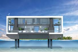 floating houses answering miami s sea level issues could be these sleek floating