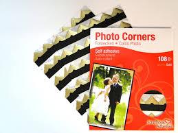 Photo Album Corners Gold Colour Photo Corners Self Adhesive Sticky Acid Free Album