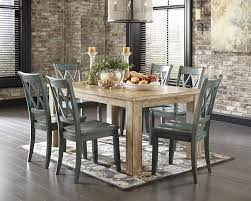 7 dining room set 7 classic rustic dining room set washed pineblue sam dining