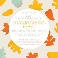 renew community church cabot community thanksgiving feast
