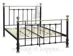 Black Metal Bed Frame Birlea Charlotte 4ft 6 Double Black Metal Bed Frame By Birlea