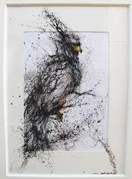 unique painting very unique painting of a bird imgur