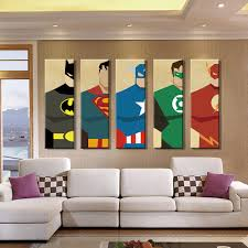 superman home decor superman canvas painting 5 pieces superhero modern home wall decor