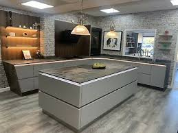 kitchen base cabinets ebay grey handleless ex display kitchen with dekton trillium